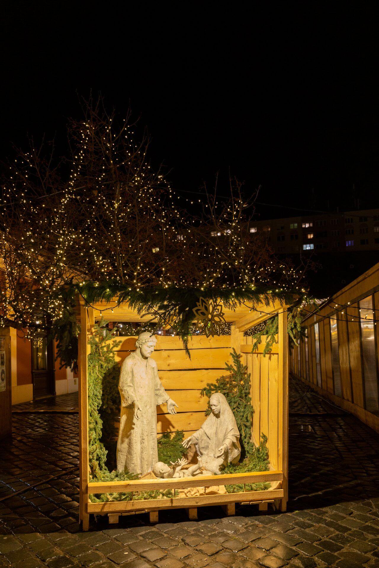 Krippe auf dem Advent in Óbuda